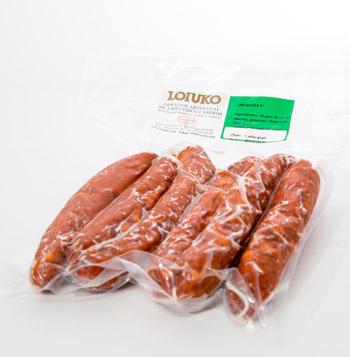 Chorizo casero con pimiento choricero